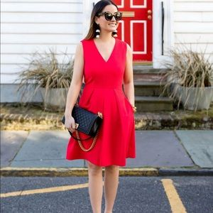 NEW • Draper James • Love Circle Dress Red 4